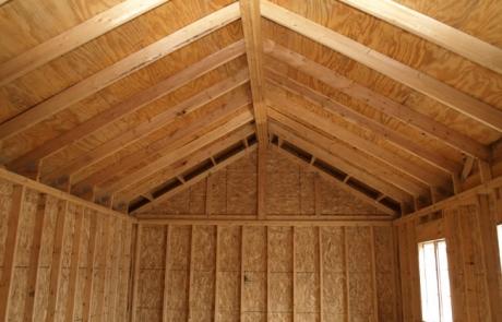 Espace intérieur : toiture