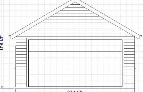 plan de garage avec côtés