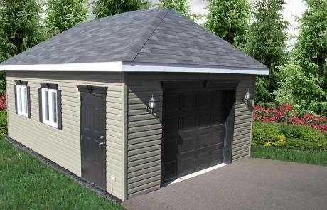 garage 4 versants vinyle meadow green