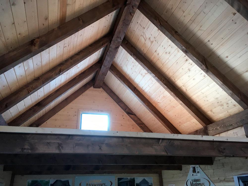 toit poutre de chalet